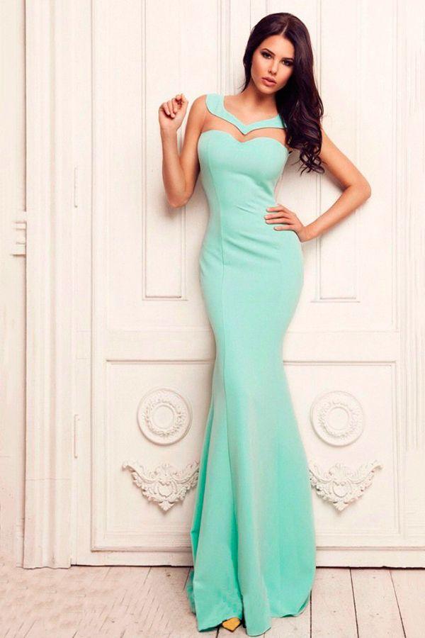 ad0f2459988 Платье мятного цвета в пол Платье Юбка