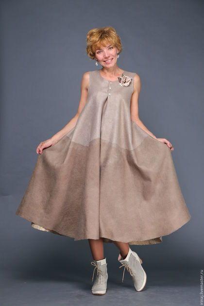 09bfcfb5cb1 Купить или заказать валяный комплект платье и топ  Дюныr  в интернет- магазине на