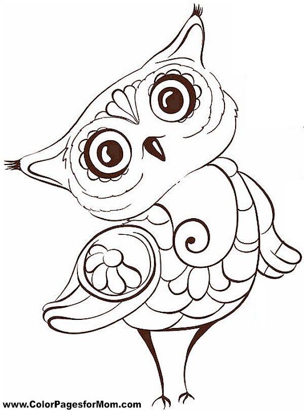 Owl Coloring Page 5 | Rainbow Room | Pinterest | Lechuzas, Mandalas ...