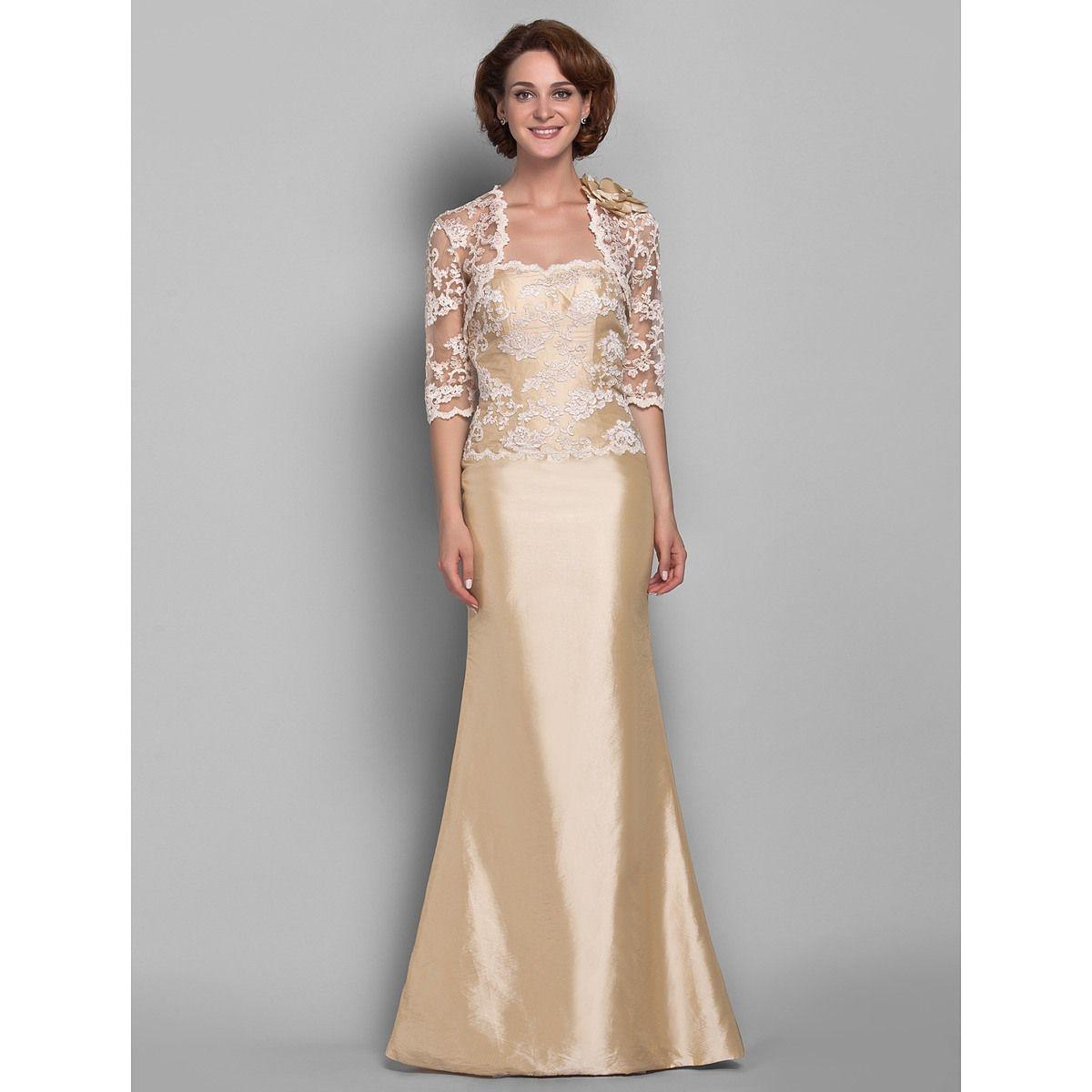 Light up wedding dress  TrumpetMermaid Sweetheart Floorlength Taffeta And Lace Mother of