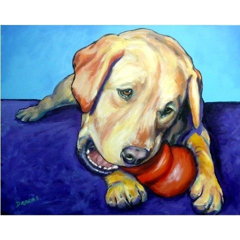 Labrador Retriever Dog Art 8x10 Print