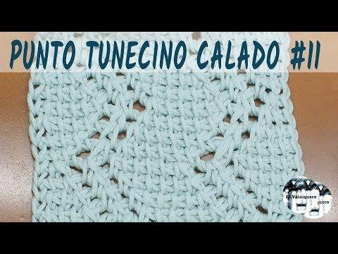 PUNTO CALADO TUNECINO 11 CROCHET TUNECINO TUTORIAL PASO A PASO - VEA ...