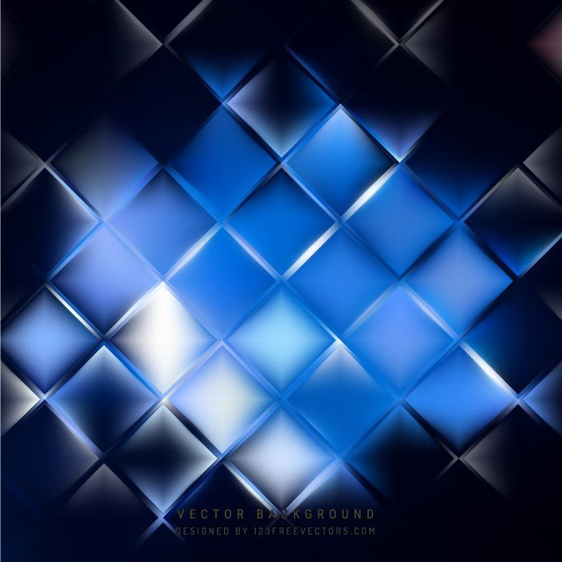 Abstract Blue Black Geometric Square Background Abstract Cool