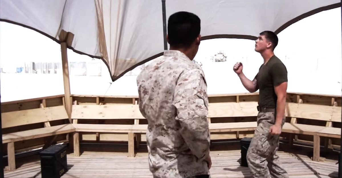 Group Of Marines Lip Synch To Britney Spears via LittleThings.com