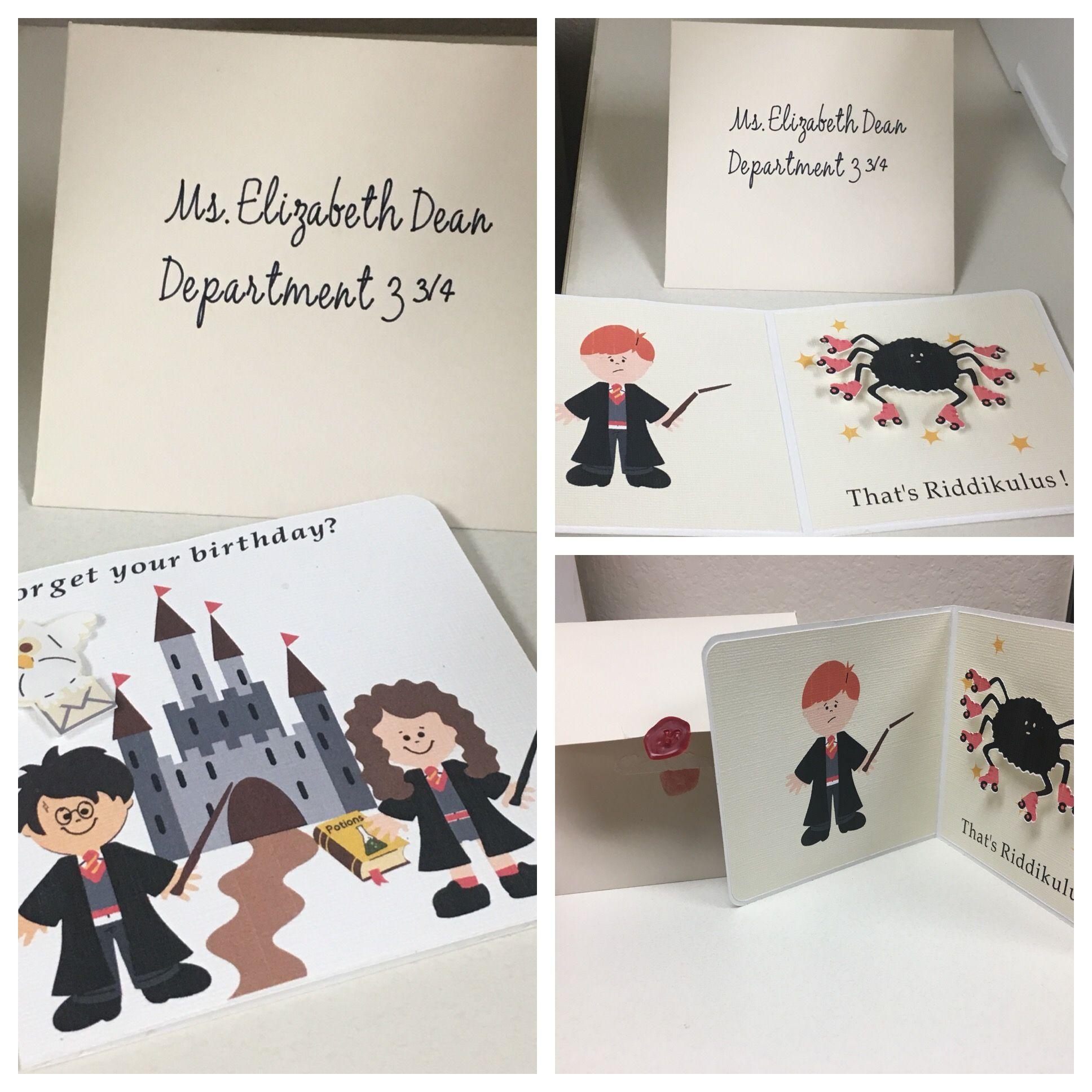 Harry Potter Birthday Card Diy Harry Potter Birthday Cards Birthday Cards Diy Harry Potter Birthday