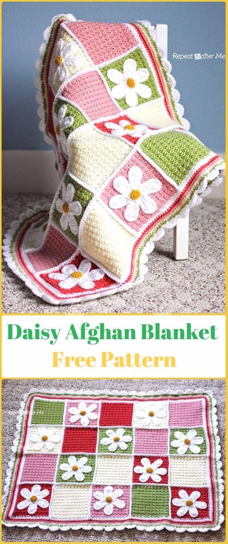 Crochet Daisy Afghan Free Pattern - Crochet Daisy Flower Blanket ...