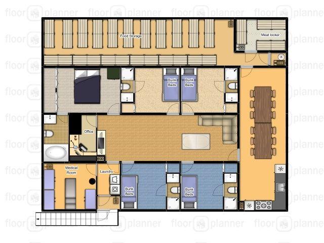 Cool Underground Floor Plan. 40 x 50 Underground Bunker  Ultimate America s Best