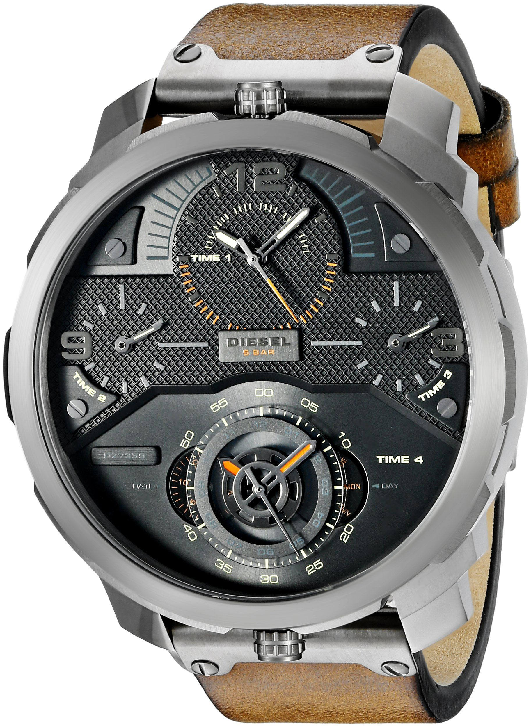 Amazon.com  Diesel Men s DZ7359 Machinus Analog Display Analog Quartz Brown  Watch  Watches 7db783dffe