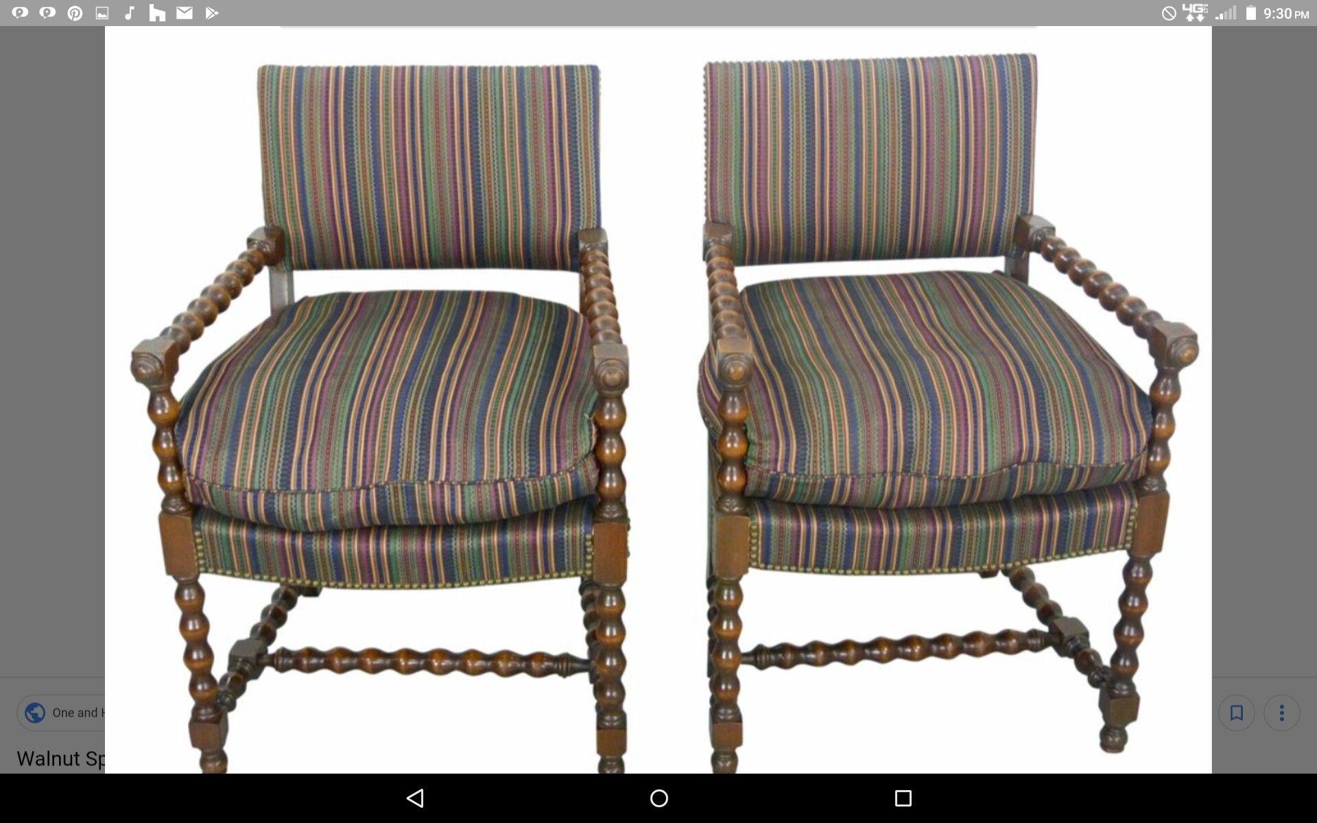 Antique spool chair retro office chair spool chair