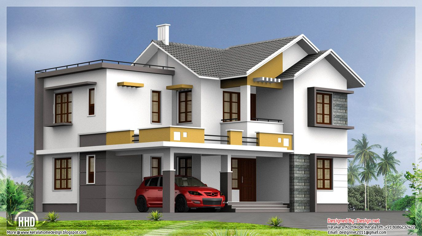 Home design plans indian style free for Free home designs india
