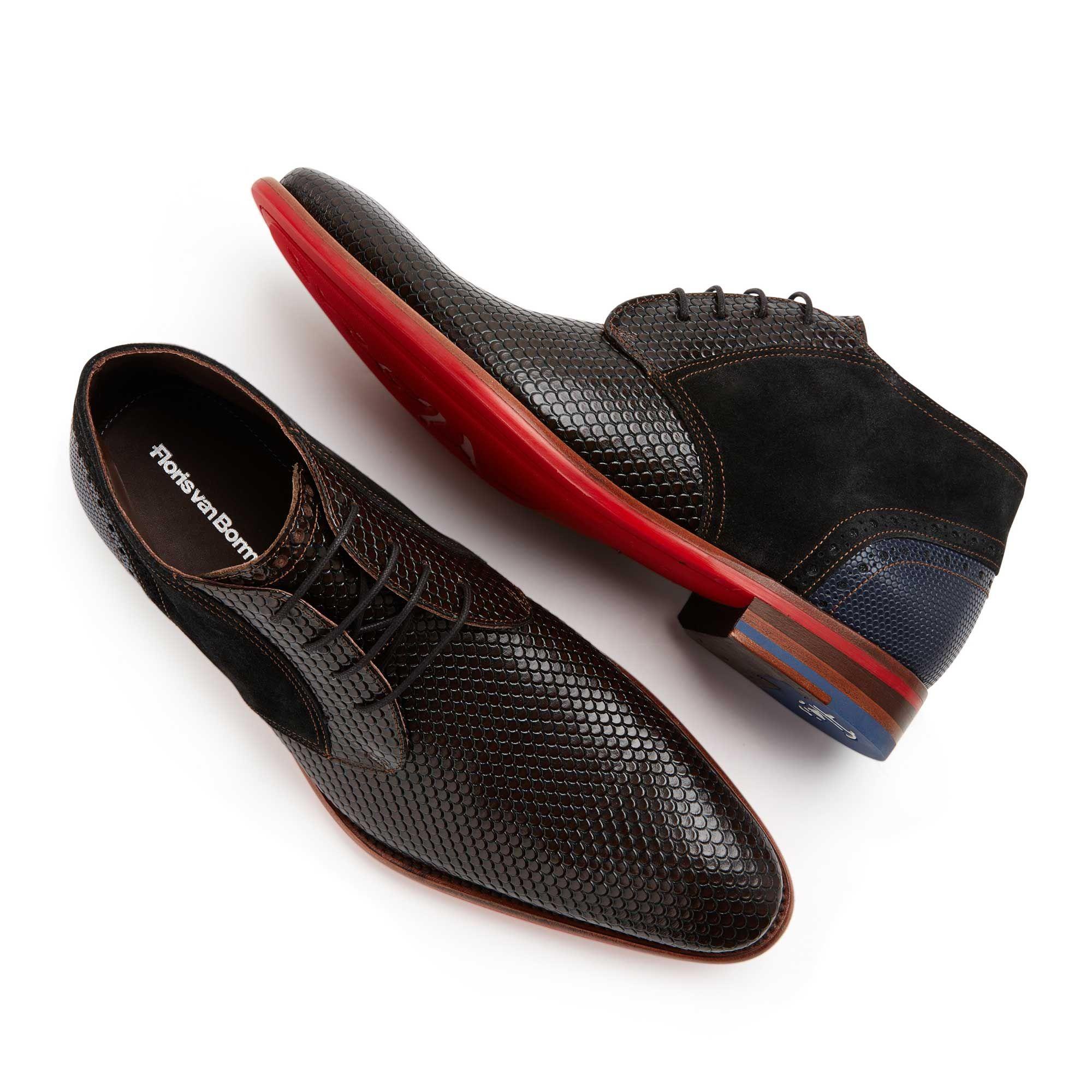 e0fa351129 10845 05 - Floris van Bommel leather men s lace boot dark brown ...