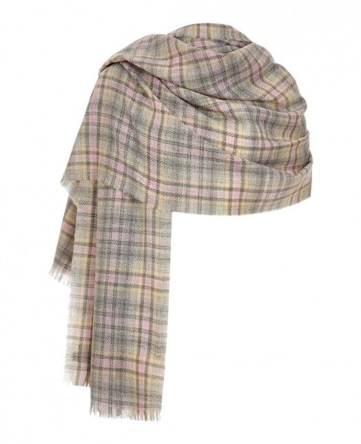 Cashmere Wrap in Pink Grey