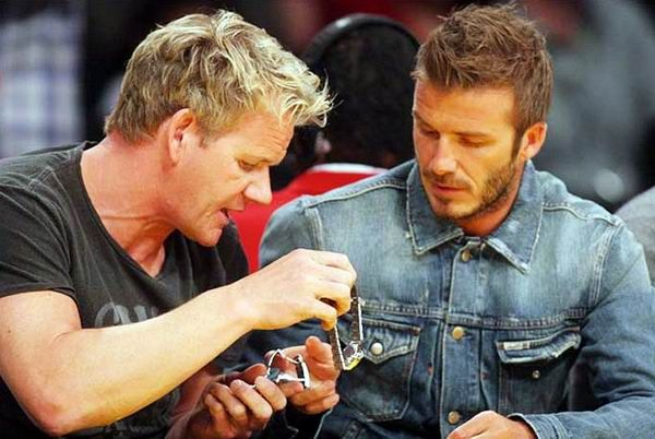 Ramsay And Beckham Exchanging Rolex Sea Dwellers Just