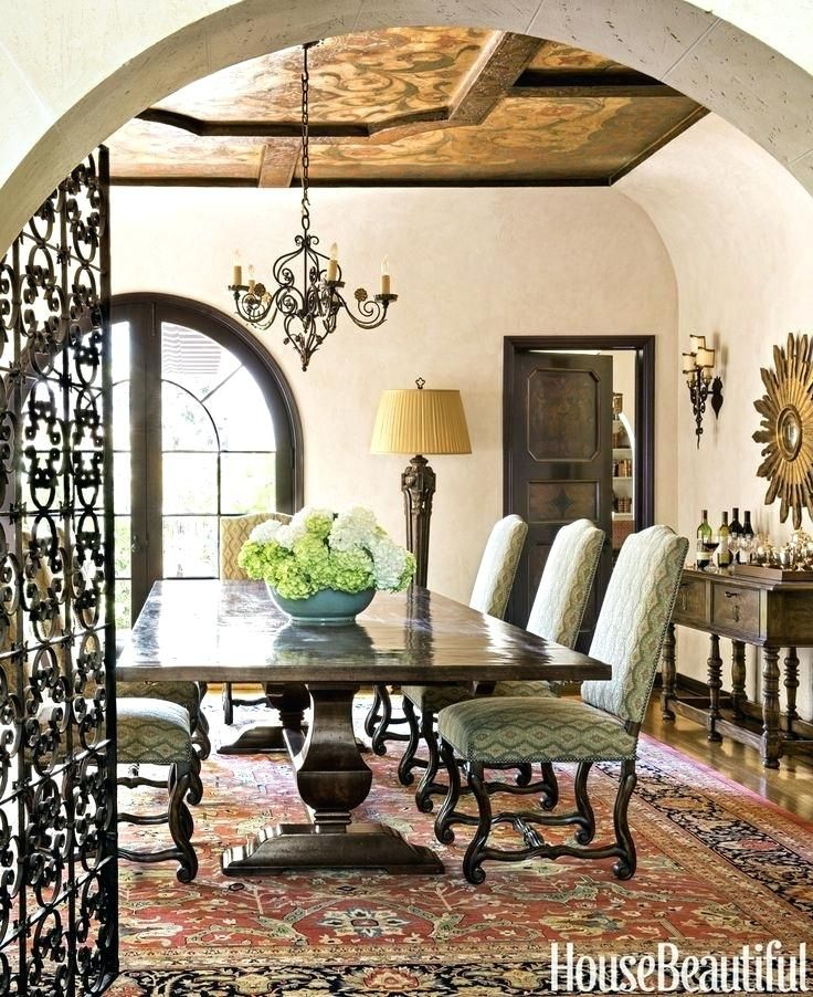 Spanish Style Living Room Furniture Tour A Colonial Revival House With Warmth And Romance Trestle Tables Woodwork Auras Chairs