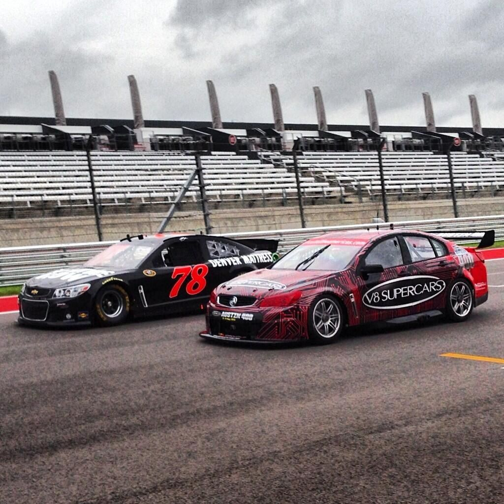 Nascar Vs V8 Supercar At Texas With Images Super Cars