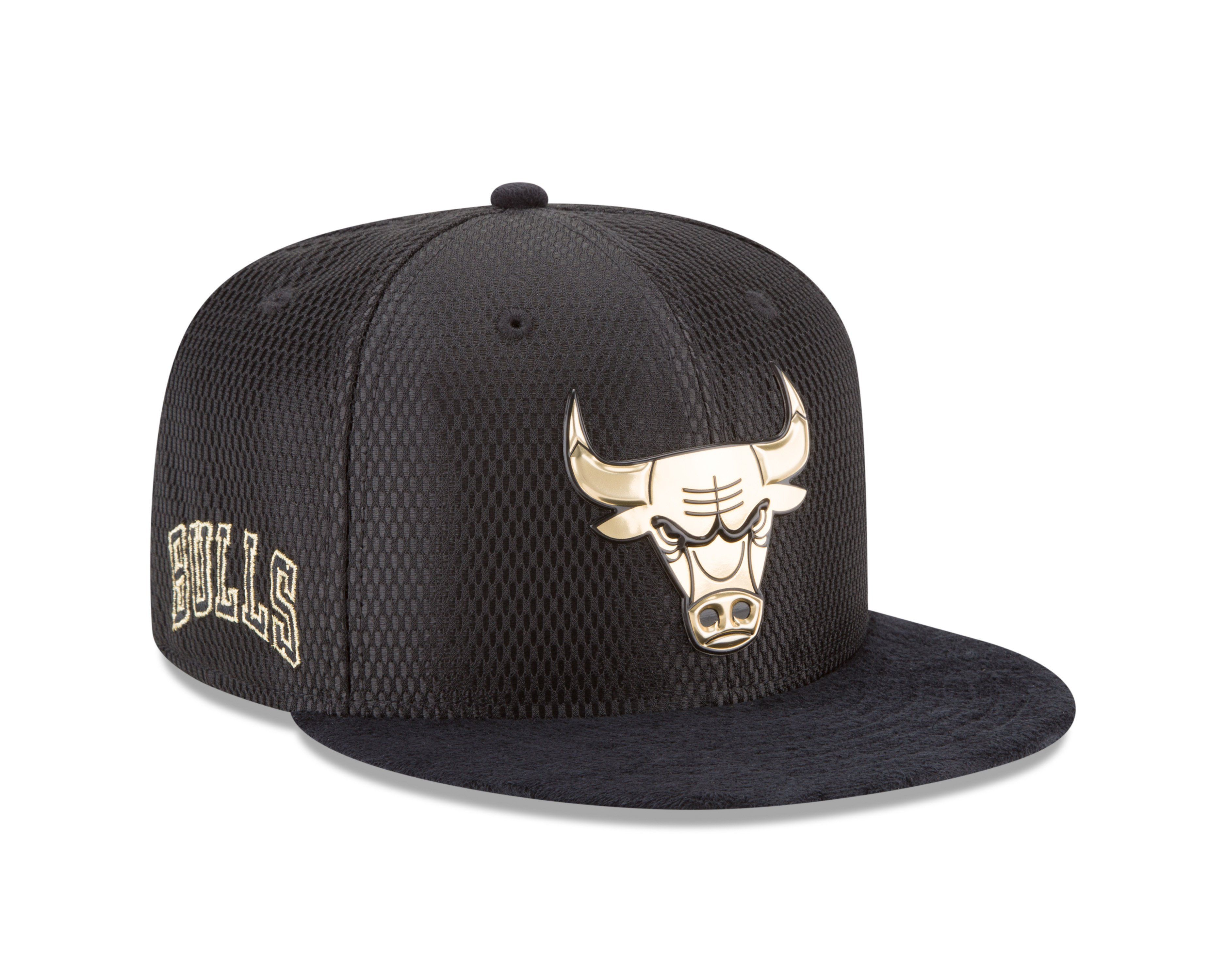 de30ad82e20 Chicago Bulls NBA17 Gold On Court 9FIFTY Snapback Hat By New Era ...