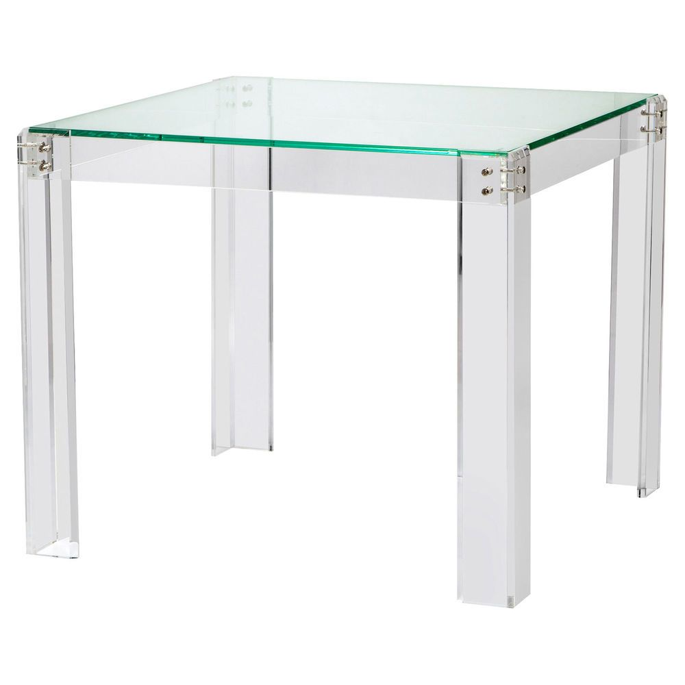 charlotte modern classic acrylic hinge game table game tables