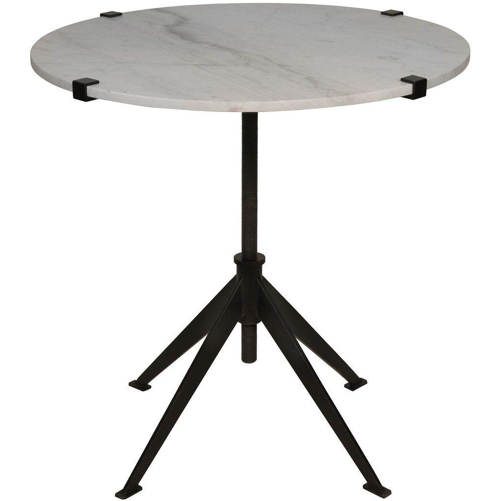 Edith Adjustable Side Table - End Table - Noir | Interior ...