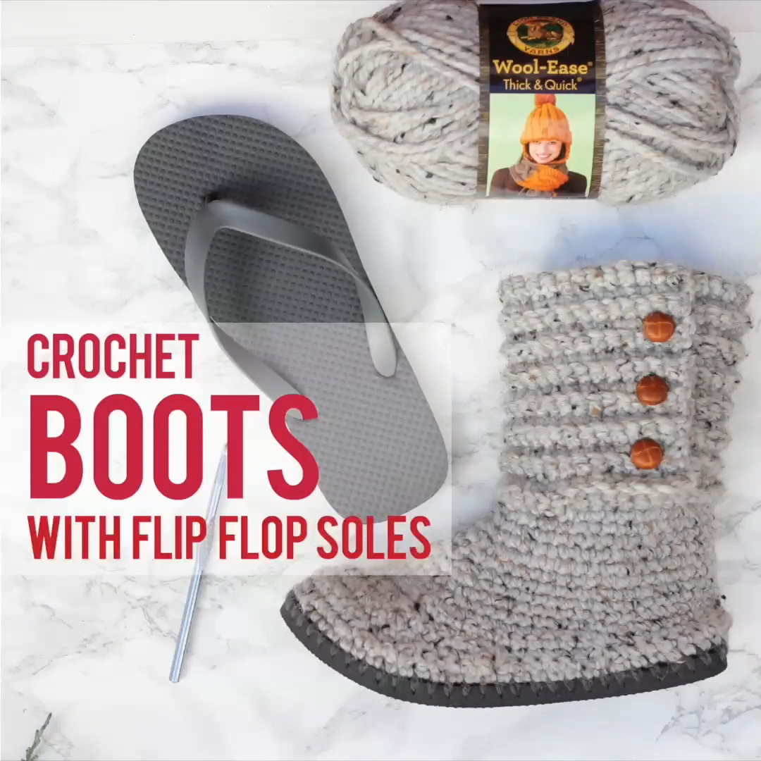 Photo of Wie man Stiefel mit Flip Flops häkelt – Kostenloses Muster + Video Tutorial