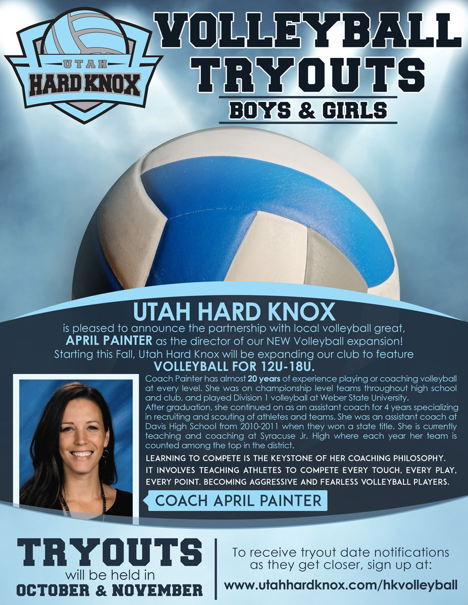 flyer design by erikalyana for volleyball tryout flyer design