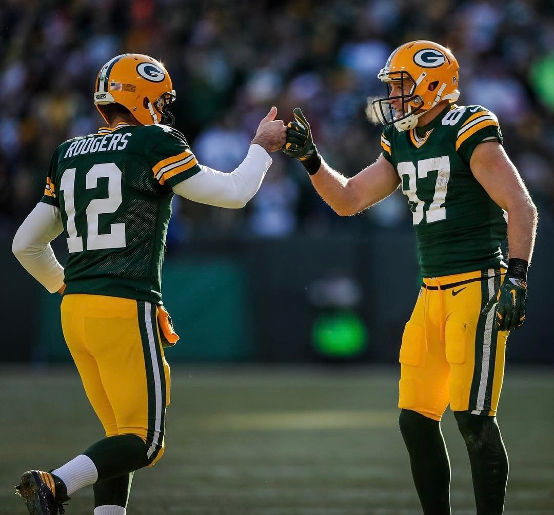 For The First Time Since 1956 Qb Tobin Rote Wr Billy Howton The Packers Had Both The Nfl S Passing Td Leader Aaron Jordy Nelson Green Bay Packers Packers