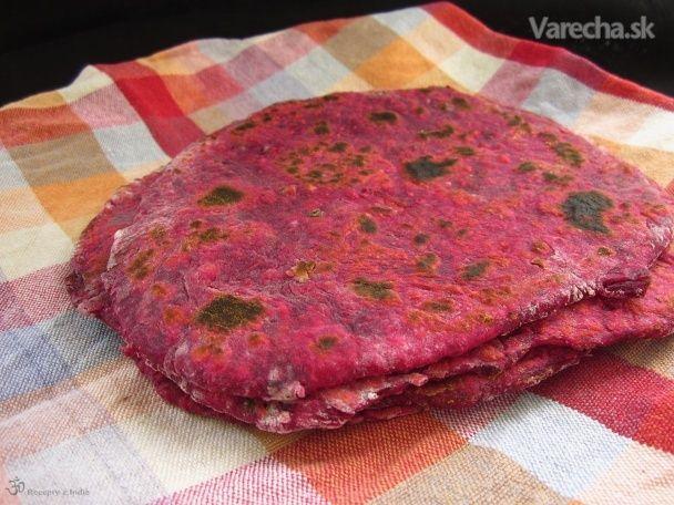 Cviklové placky Paratha - Recept