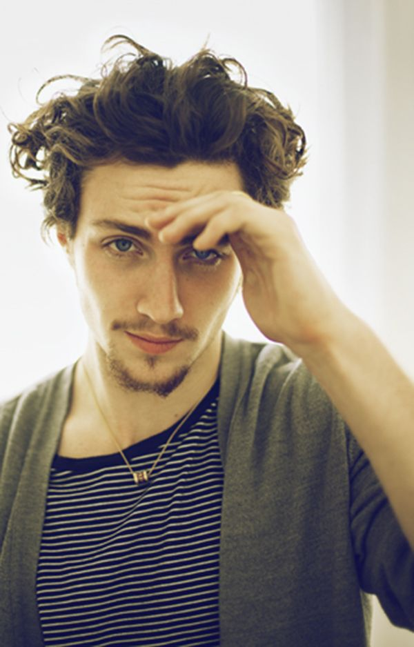 Aaron Johnson sweet jesus | Curly hair men, Haircuts for ...