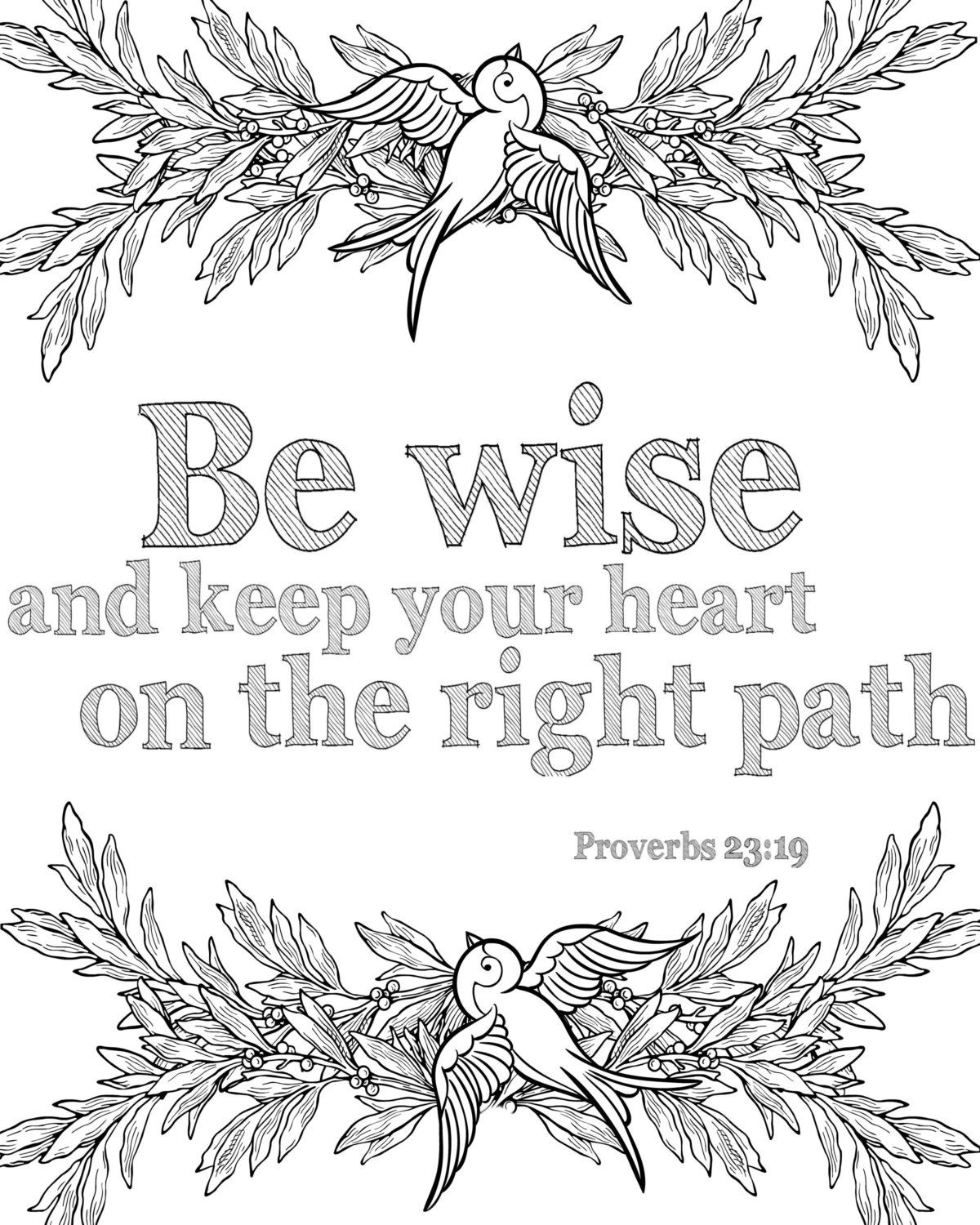 12 Bible Verse Coloring Pages Instant By