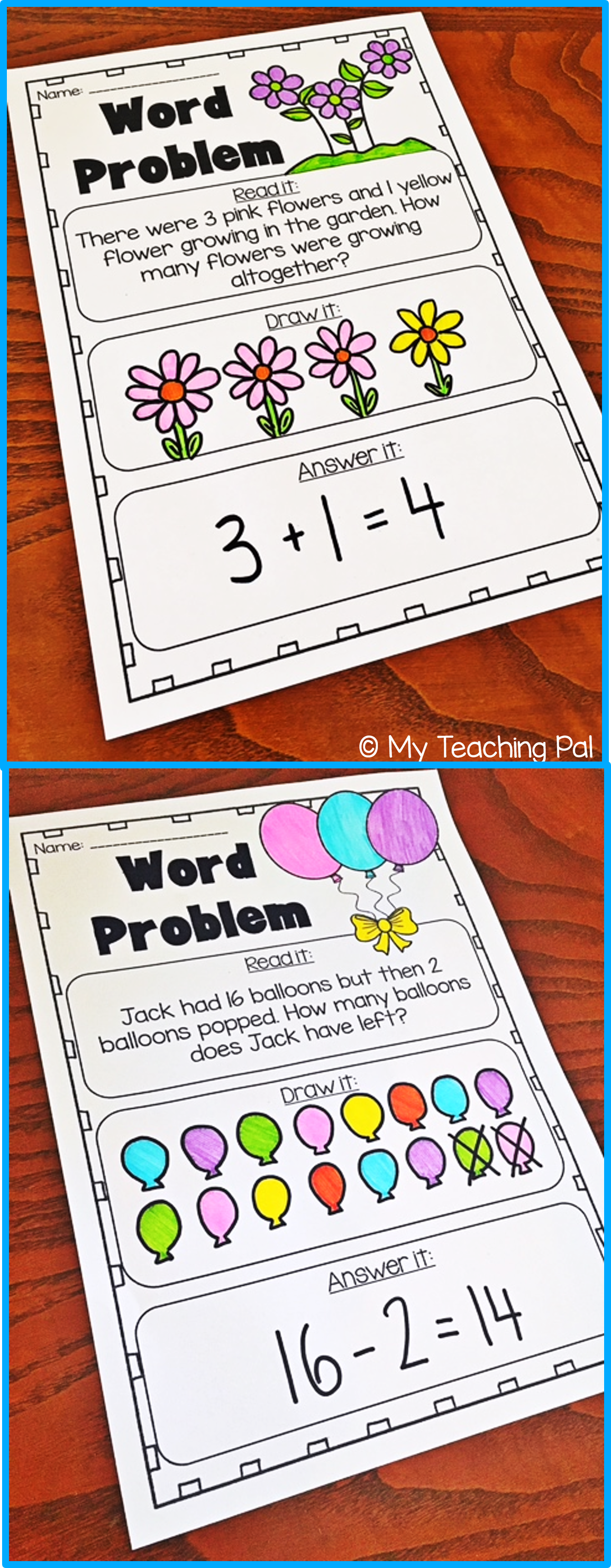 Addition And Subtraction Word Problem Printable Worksheets