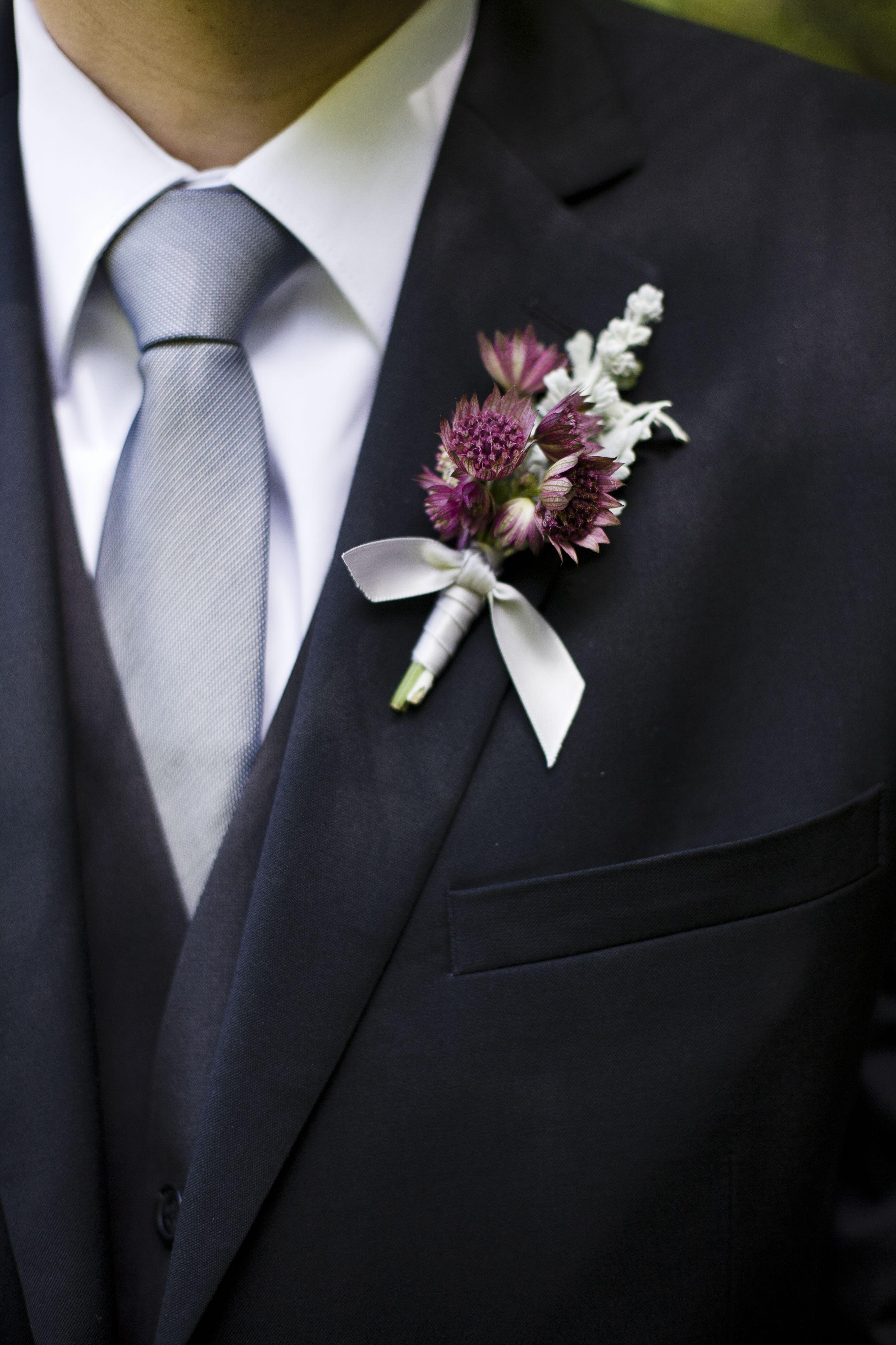 lavender boutonniere-#27