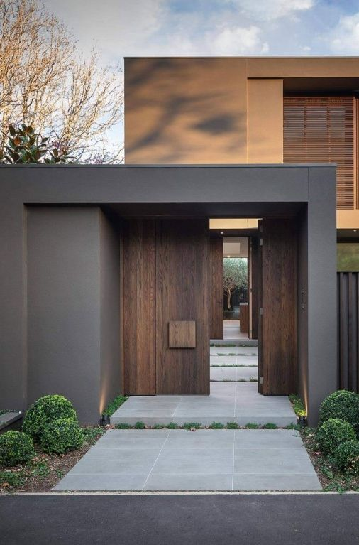 Architecture Beast House Colors Amazing Modern Facade In Brown Home Beautiful Contemporary Entrance Design Door