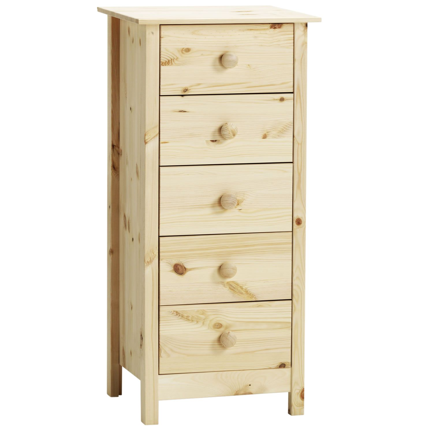 Captivating Malmo 5 Drawer Tall Boy Chest Of Drawers Unfinished   Simply Furniture