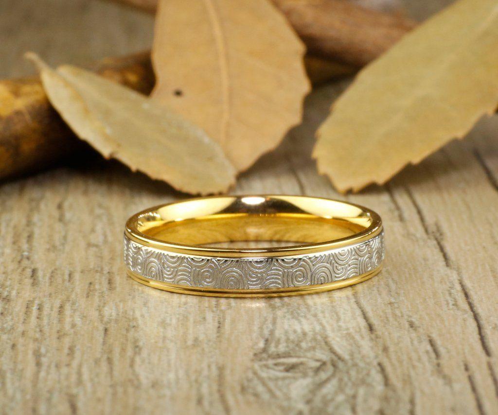 Handmade Gold Wedding Band, Golden Wedding Ring, Bridal