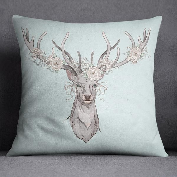 Country Chic Deer And Rose Bedding Shabby Chic Kussens