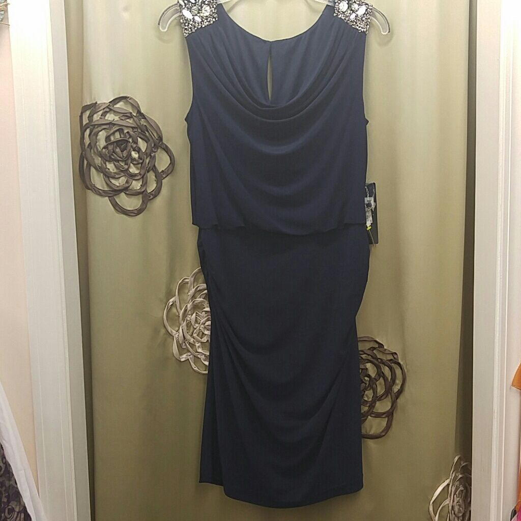 Js Collection Navy Dress