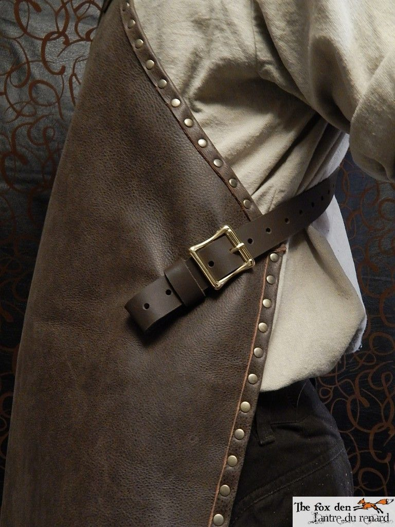 White leather apron lecture - Blacksmith Apron Leather