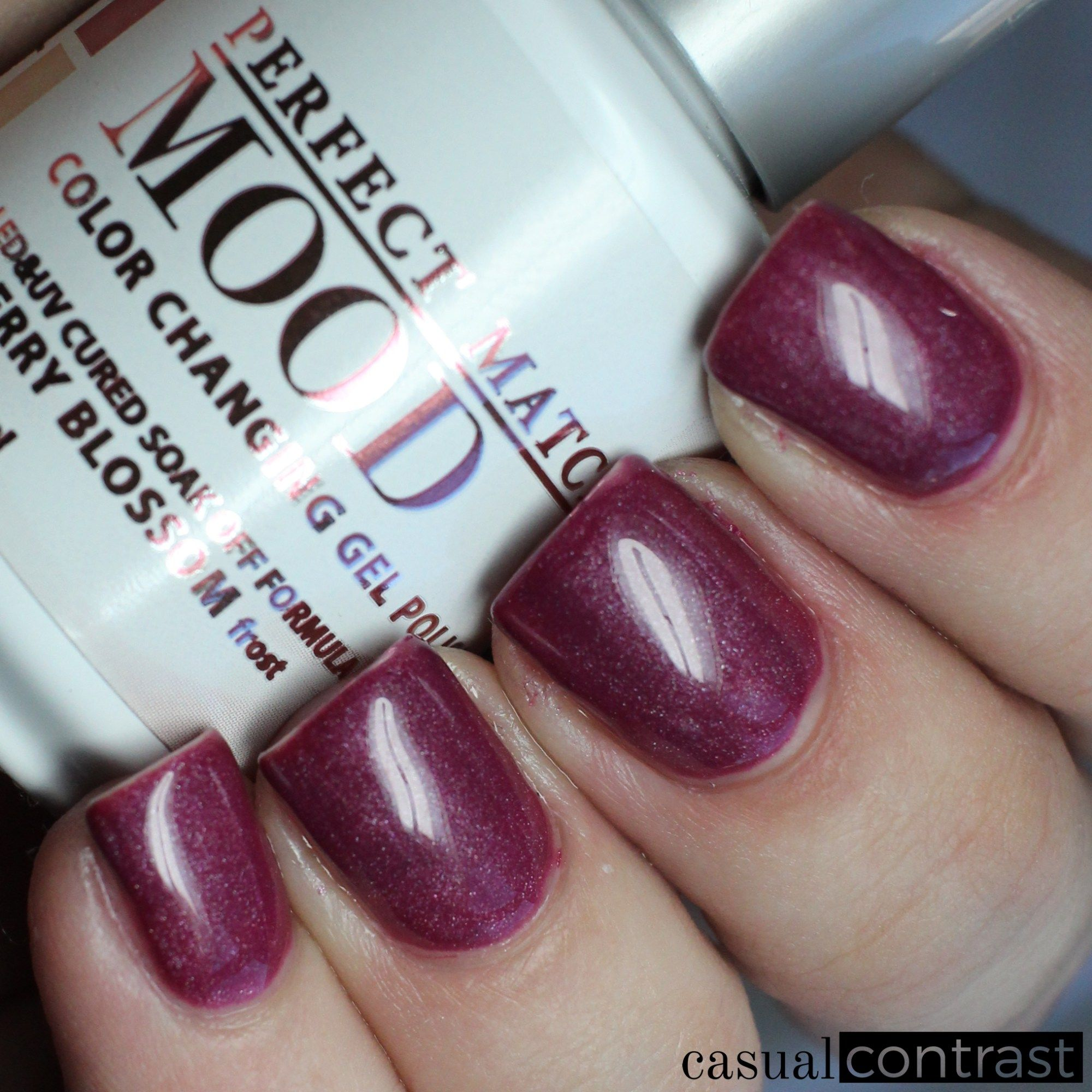 Lechat Cherry Blossom Cold State Perfect Match Mood Color Changing Gel Polish Swatches Review Casual Contrast