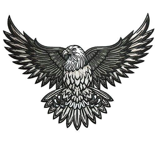 Bald Eagle Tattoo Design Simple Gray Bald Eagle Bald Eagle Tattoos Eagle Tattoo Biker Tattoos