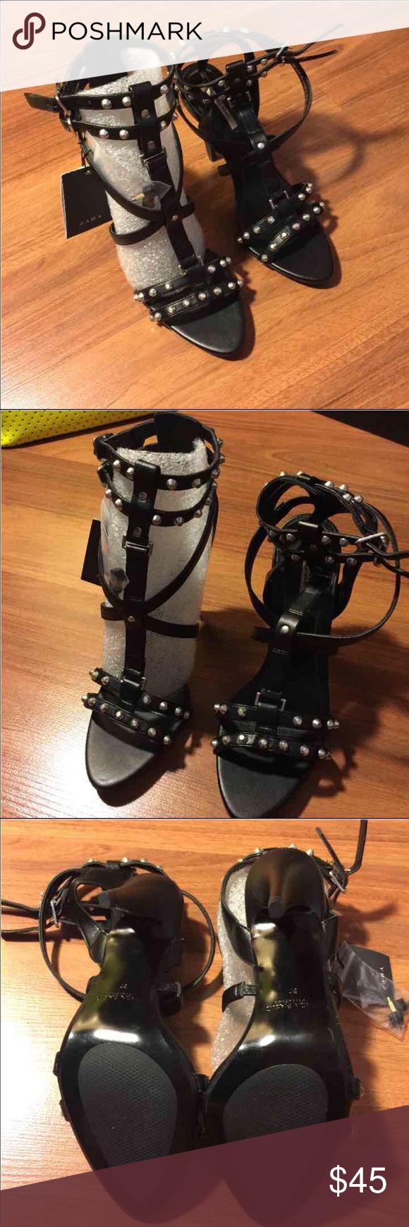 Zara heels BNWT! No box!  Size 6.5/37 Heel is about 3.5 in Zara Shoes