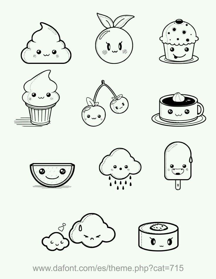 cute little doodles | DIY Crafts | Pinterest | Comida kawaii, Kawaii ...