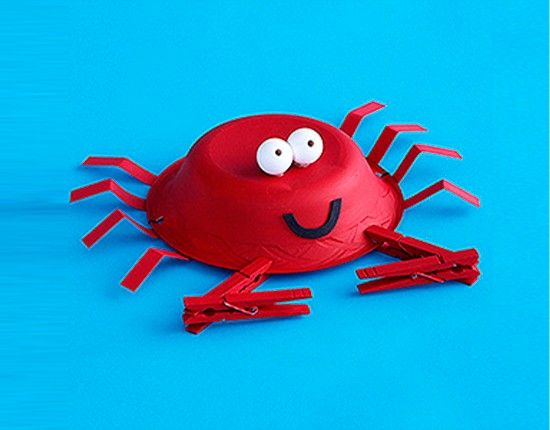 paper plate crab craft for kids & paper plate crab craft for kids | Kindergarten | Pinterest | Crab ...