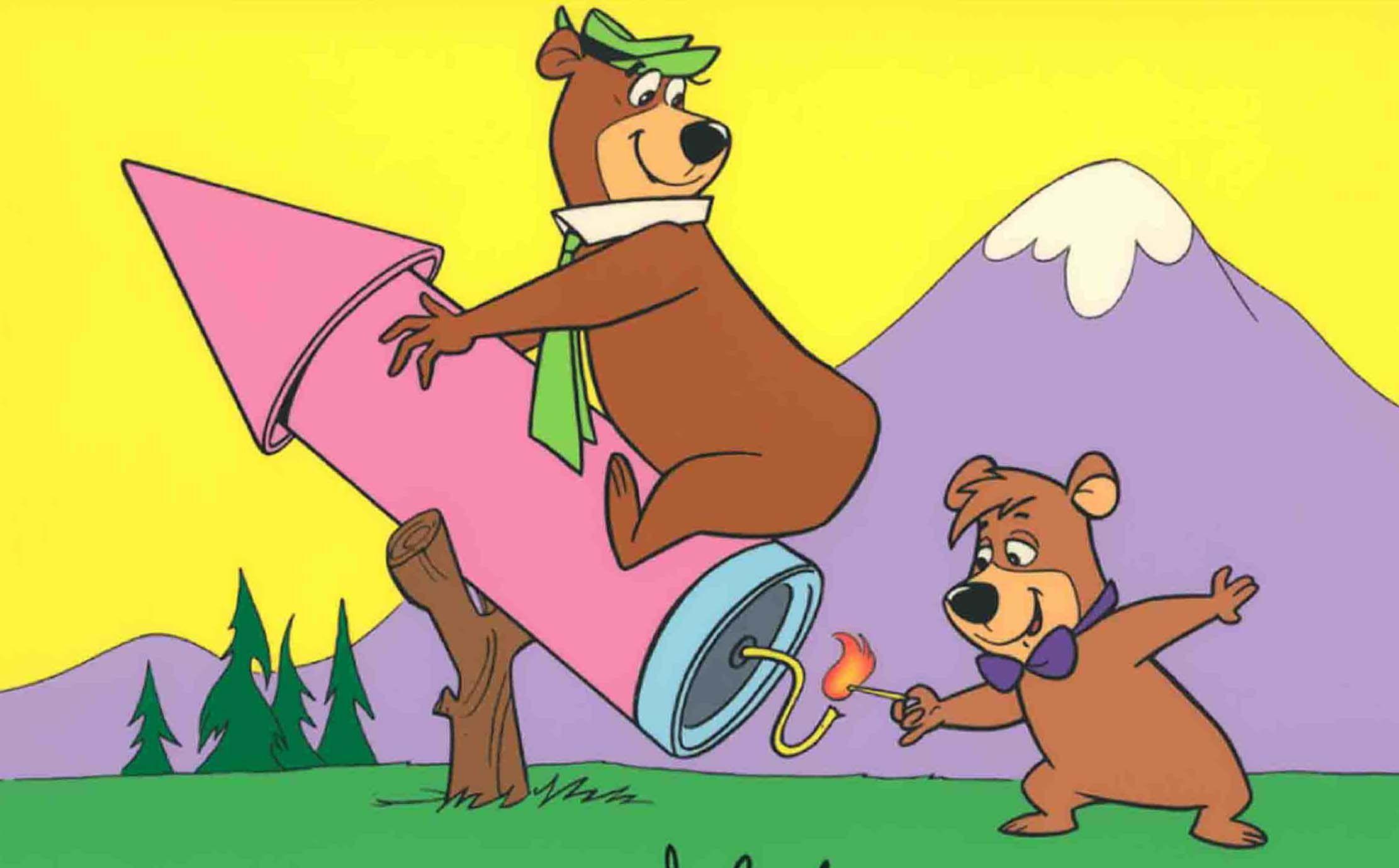 Yogi Bear /& Boo Boo Hand Drawn /& Hand Painted Cel