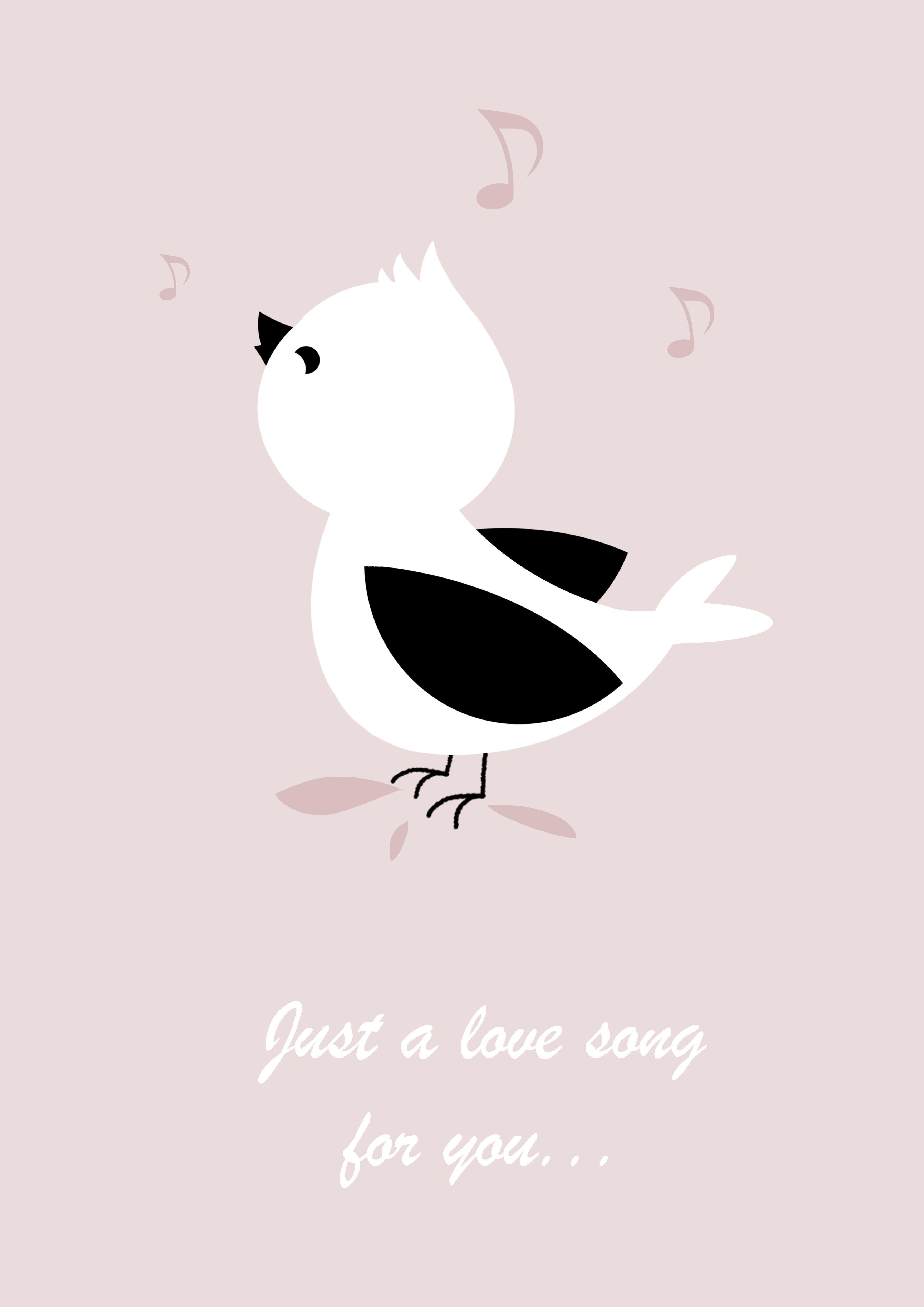 A Song For You Affiche Deco Pour Chambre D Enfant Oiseau