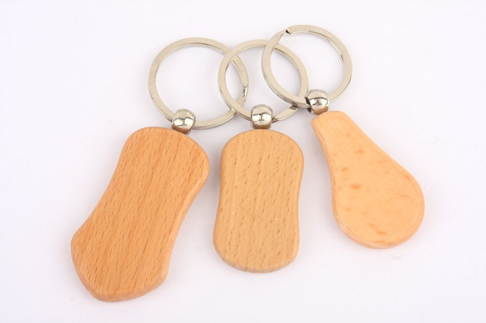 Souvenir Gift Personalized Wood Name Keychains Cheap Wooden Name
