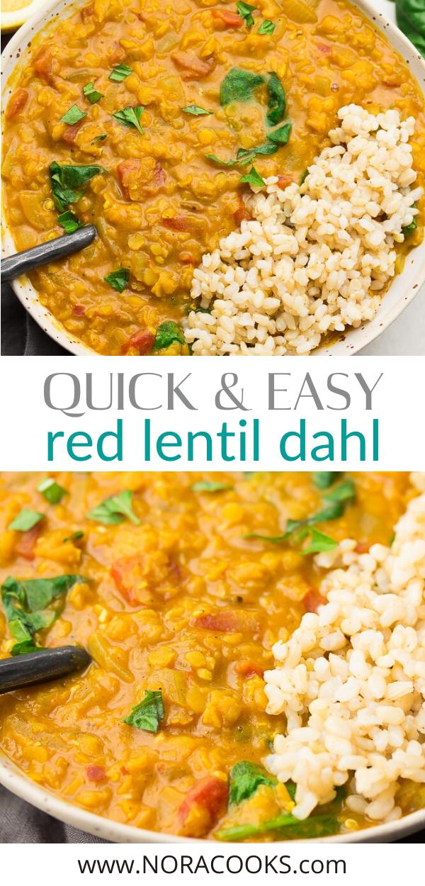 Quick Easy Red Lentil Dahl Nora Cooks Indian Food Recipes Lentil Dahl Keto Indian Food