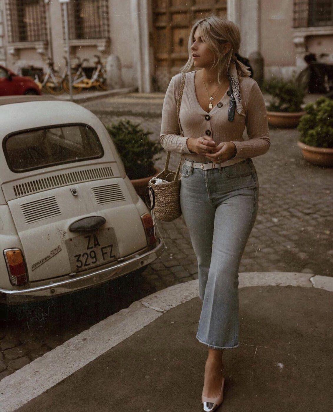 FRAME Boot Cut Jeans blau Casual-Look | Mädchenflohmarkt