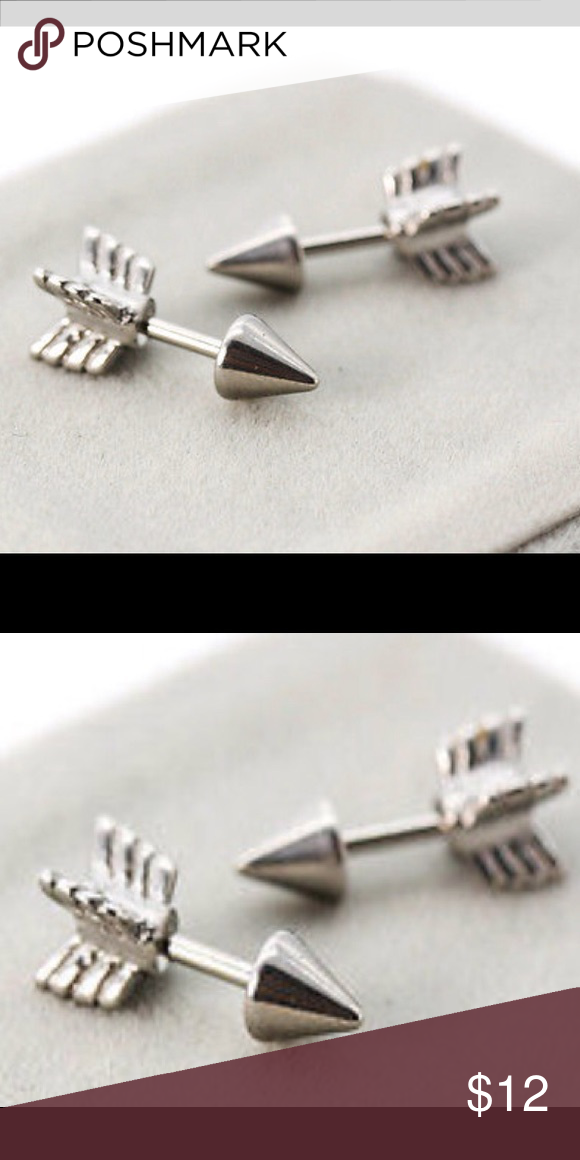 Arrow Tip Stud Earrings