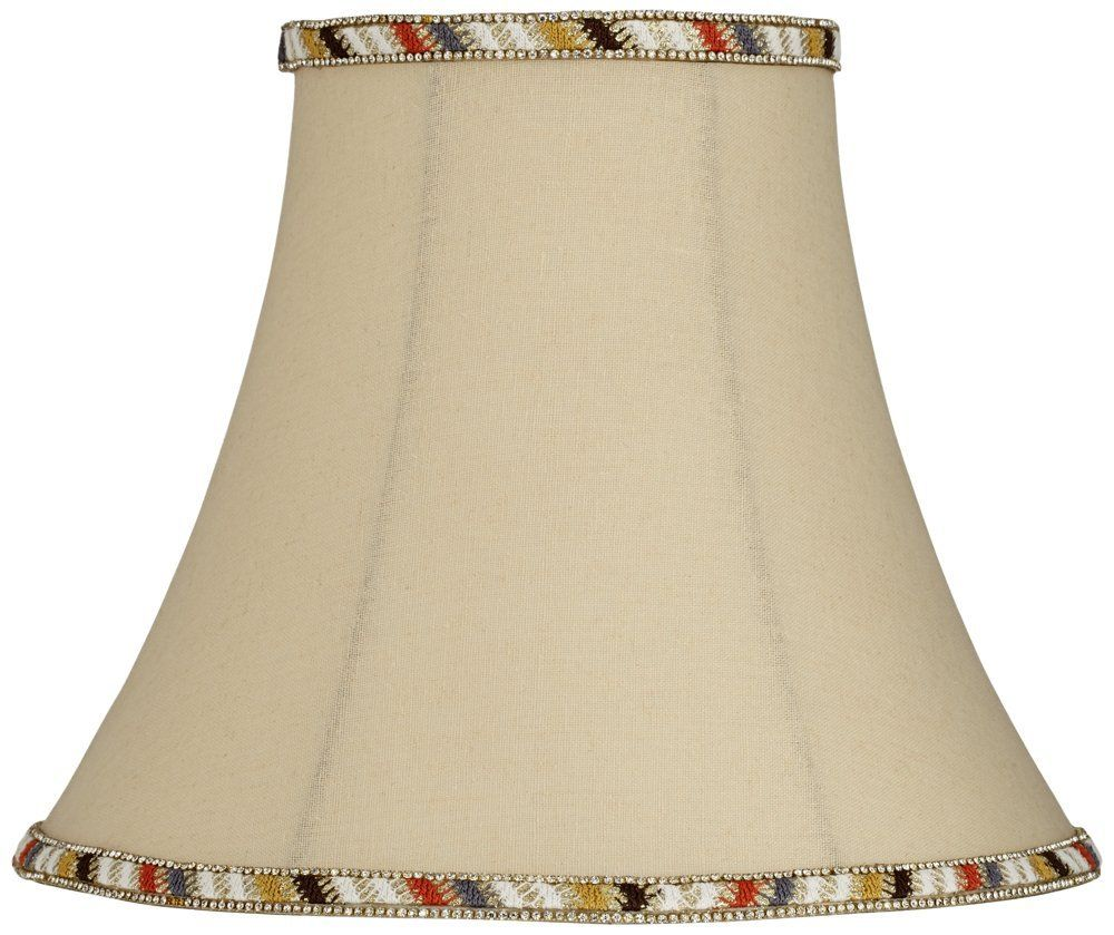 Bell Lamp Shade Classy Wehai Almond Linen Fabric Bell Lamp Shade 6X12X10 Spider  Read Inspiration Design