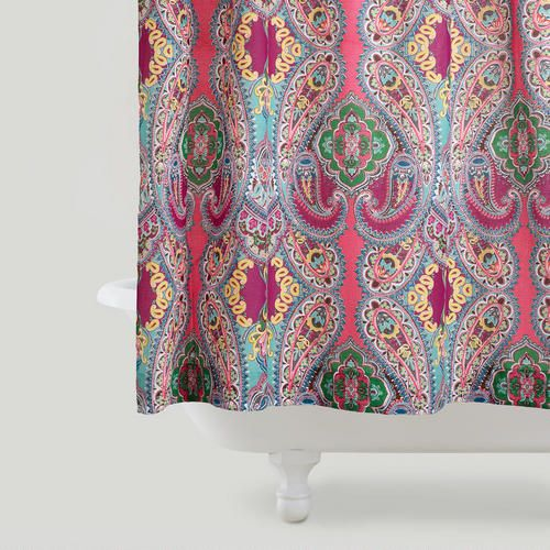 Pink Venice Shower Curtain Boho Shower Curtain Shower Curtain Paisley Shower Curtain