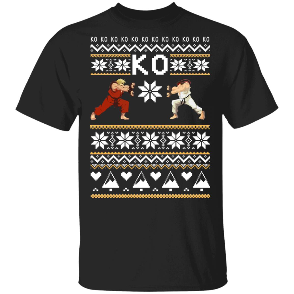 Street Fighter Ko Christmas Sweater Allbluetees Online T Shirt Store Perfect For Your Day To Day Christmas Sweaters Sweaters Street Fighter